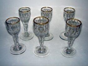 Set Of 6 X Georgian Cordial Glasses Ca1790