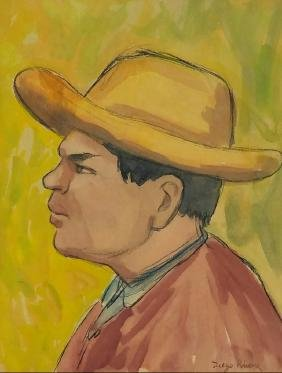 "Diego Rivera - Crayon On Paper - 14"" X 11"""