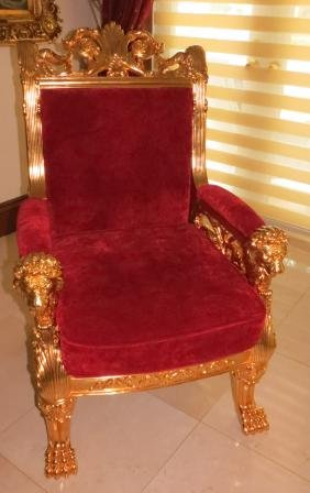 Pair Of Solid Bronze Arm Chairs