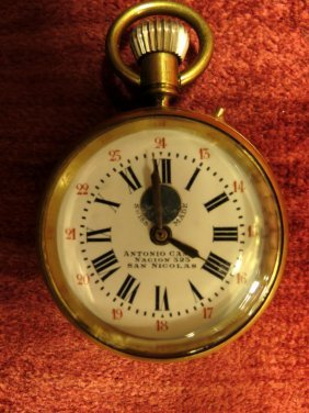 Pocket Watch Antonio Canes Swiss, Bronze