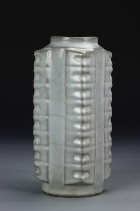 Chinese Kuan-type Zhong Vase