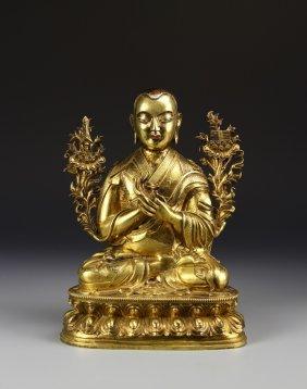 Chinese Gilt Buddha