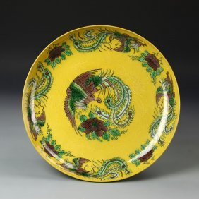 Chinese Sancai Plate