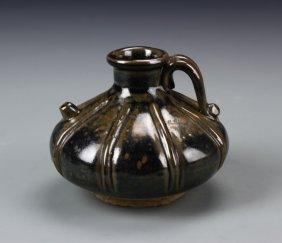 Chinese Black Glazed Wine Pot