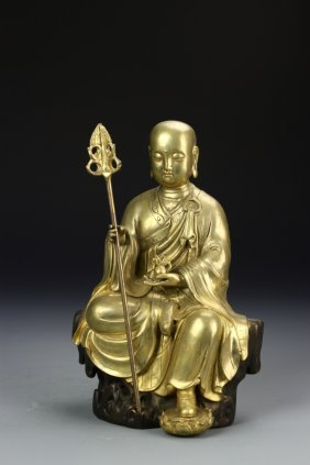 Chinese Gilt Monk