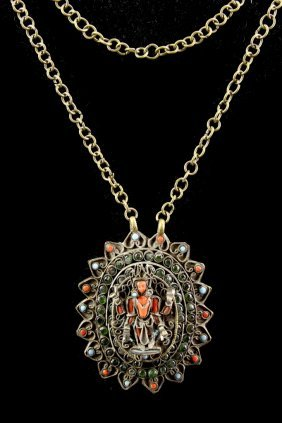 Tibetan Necklace With Inlays