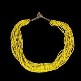 Chinese Peking Glass Beaded Necklace