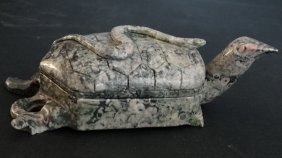 Chinese Carved Turtle Fossil 化石彫