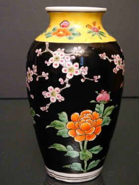 Chinese Famille Rose With Wide Mouth Bottle 粉