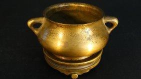 Chinese Brass Incense Burner 玉堂铜