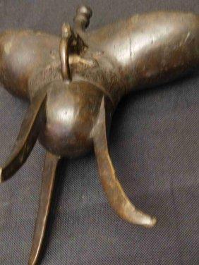 Chinese Bronze Jue Wine Cup 青铜爵