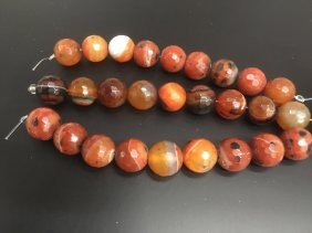 Chinese Colorful Agate Beads Strand