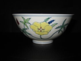 Chinese Chenghua Doucai Palace Used Bowl