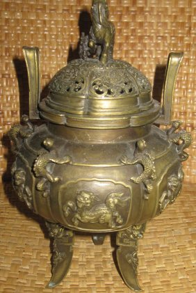 Chinese Qing Qianlong Incense Burner