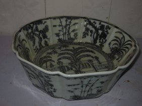 Chinese Blue & White Big Bowl