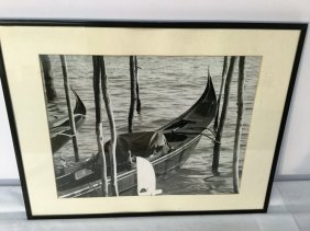 Gondola Photograph In Venice