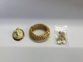 Lot Three Piece Jewelry Misc. Gold & Findings