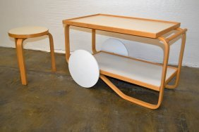 Alvar Aalto Cart And Stool
