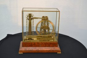 "French ""water Wheel"" Mystery Clock"