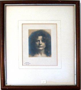 "Geo. T. Basset New York Vintage Photograph, ""Portrait,"""