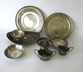 Lot Of 9 Pieces Of Sterling Silver Hollowware.