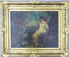 Frederick Ballard Williams Oil On Canvas Diana In A