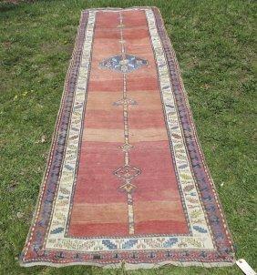 Caucasian Long Rug, 13 Feet 4 Inches By 3 Feet 6
