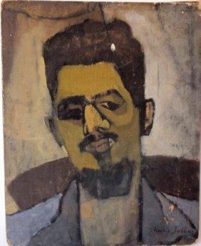 Charles Joffe Oil On Board Portrait Of Herbert Leopold,