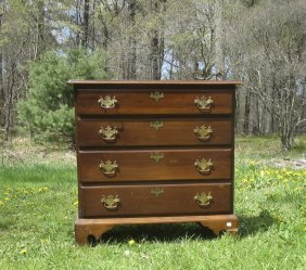 Bench Made Chippendale Style Chest. Condition: Crack To