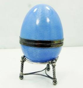 Victor Mayer Faberge Paris .925 & Enamel Egg