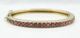 2.55ctw Genuine Ruby & Solid 18k Yellow Gold