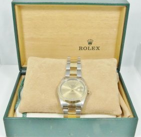 Rolex 18k & Stainless Steel Datejust Men's Watch