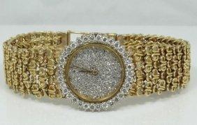 Bueche Girod Solid 18k 17 Jewel Swiss Movement Watch