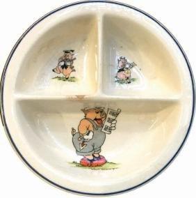 Piatto De I Tre Porcellini E Mickey Mouse