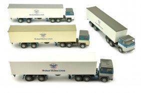 Konvolut 4 Container/lkw Scania 110 Usl