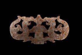 An Archaic Jade 'double Dragon' Plaque