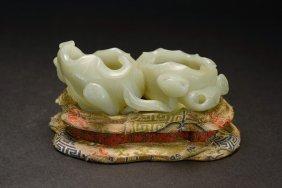 A White Jade Lotus Washer