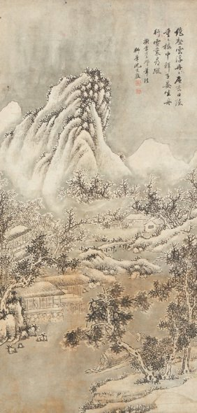 Shen Zongjing: Ink And Color On Paper Painting