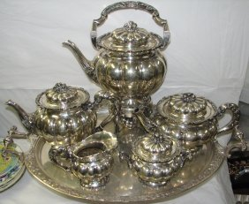 MONUMENTAL  6 PC STERLING TEA SERVICE 280 OZS.