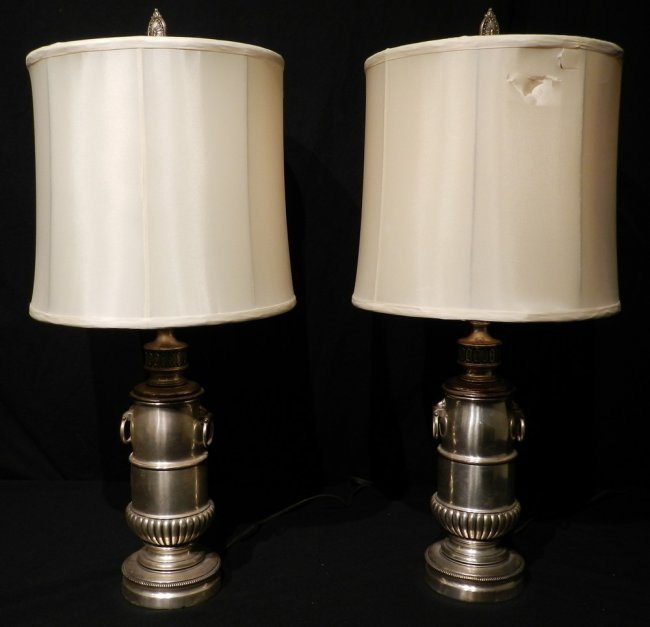 pair of stiffel brass table lamps lot 111. Black Bedroom Furniture Sets. Home Design Ideas
