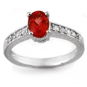 Genuine 1.50ctw Pink Tourmaline & Diamond Ring 14K Gold