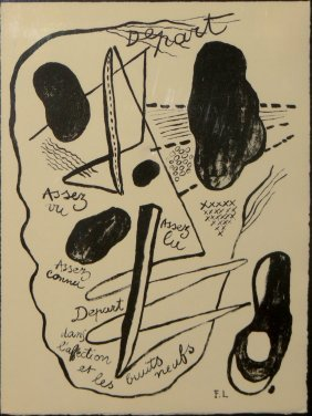 "Fernand Leger Lithograph From ""Les Illuminations"""