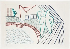 "David Hockney ""my Pool And Terrace"""