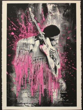 "Mr. Brainwash ""jimi Hendrix (pink)"