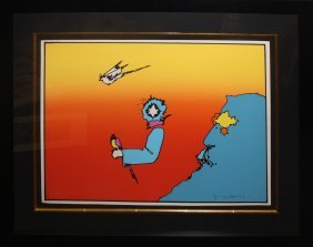 "Peter Max ""witness From Above"""