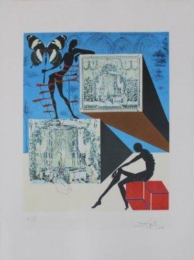 """Salvador Dali """"dressed In The Nude In The Surrealist Fa"""