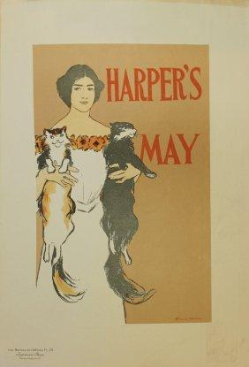 "Edward Penfield ""harper's May"" Vintage Poster"