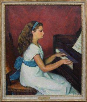 "Louis Kronberg ""katherine At The Piano"""