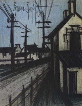 """Bernard Buffet """"the Village Road"""""""