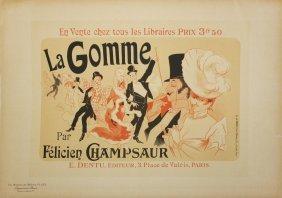 """Jules Cheret """"la Gomme"""" Vintage Poster"""